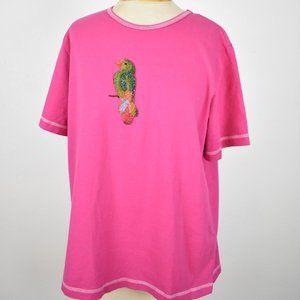 Vintage Quacker Factory  Parrot Pink T-shirt